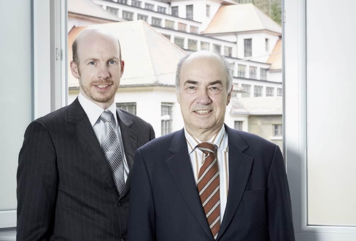 Dr. Hans Jochem Steim rechts und Sohn Hannes