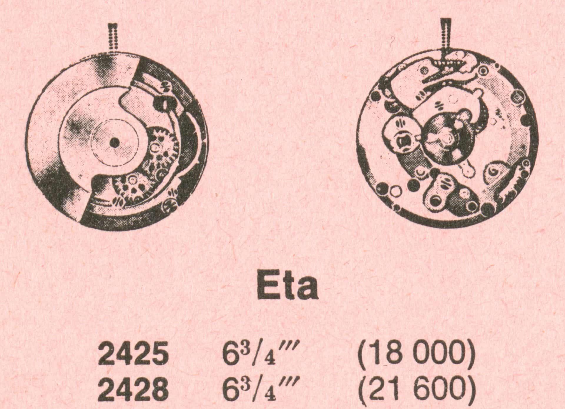 Eta 2425 2428 1962 1969