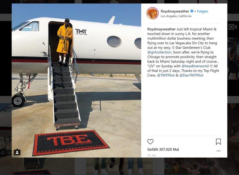 The Money Maker of The Money Team hat laut Instagram ein straffes Programm. Da bleibt nicht immer Zeit fürs Umziehen!