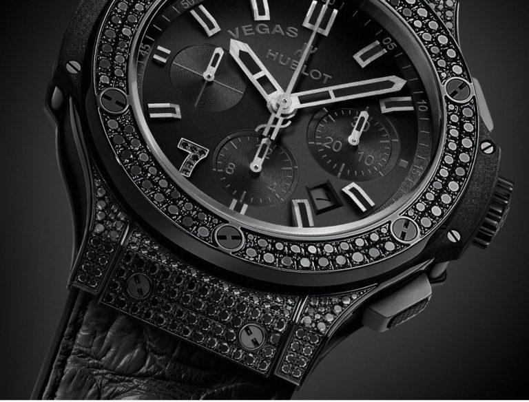 Das Sondermodell Vegas mit schwarzen Diamanten von Hublot. Dezenter geht es doch kaum noch, finden Sie nicht?