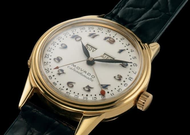 Eine ausgesprochen schöne und noch heute begehrte Uhr - die Movado Calendomatic