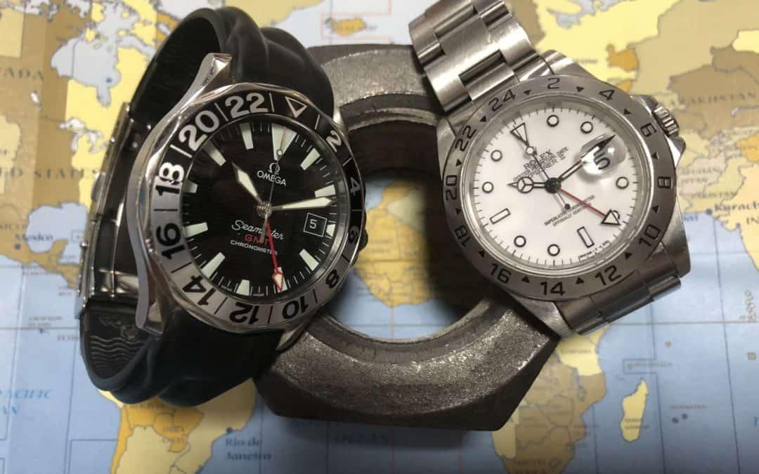 Rolex Explorer GMT II und Omega Seamaster 300 GMT