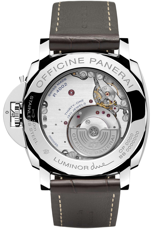 Der Selbstaufzug der Panerai Luminor Due GMT erfolgt durch den Mikrorotor