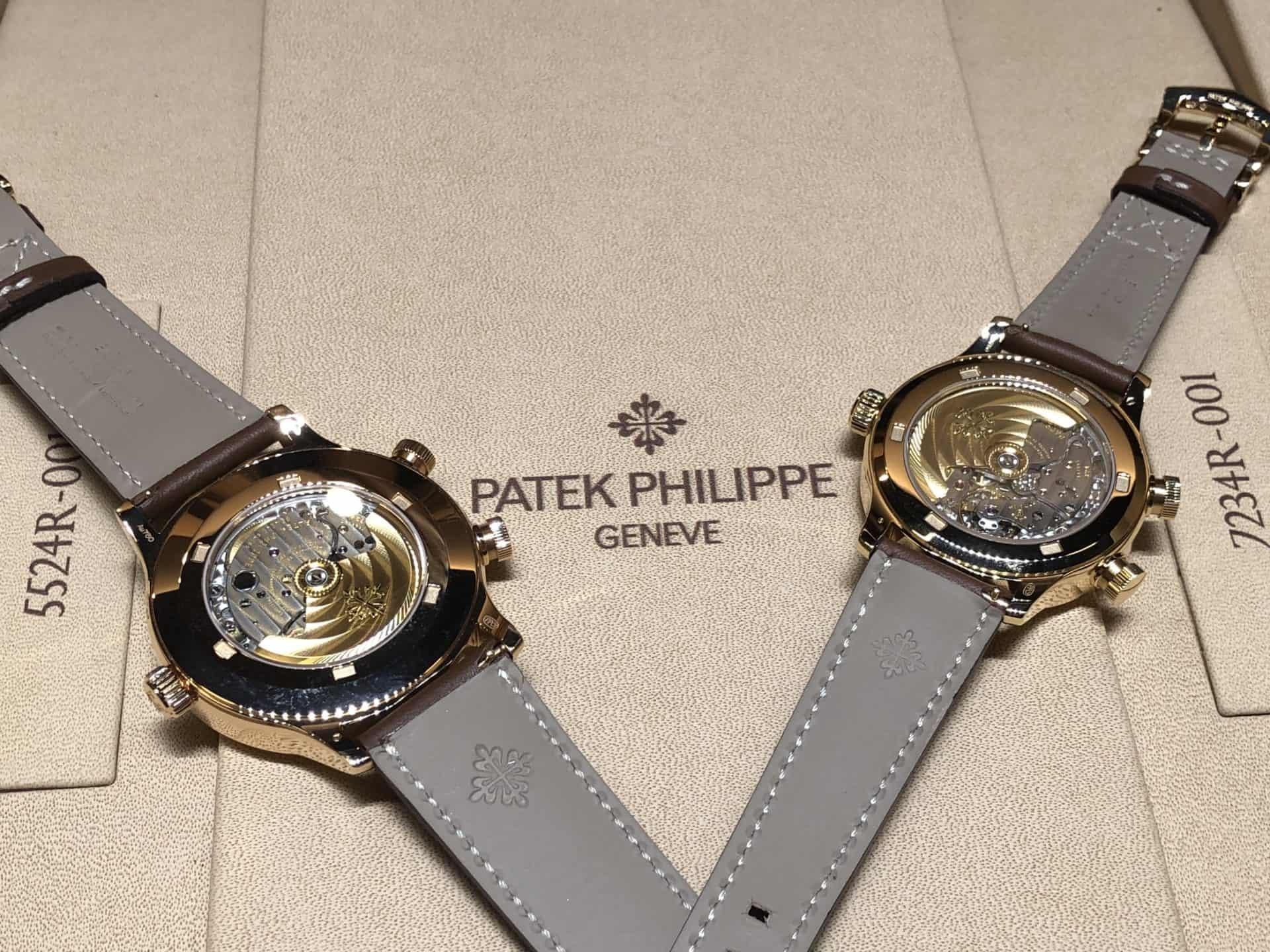 Das Automatikwerk der Patek Philippe mit Weltzeitindikation ist in beiden Fällen gleich