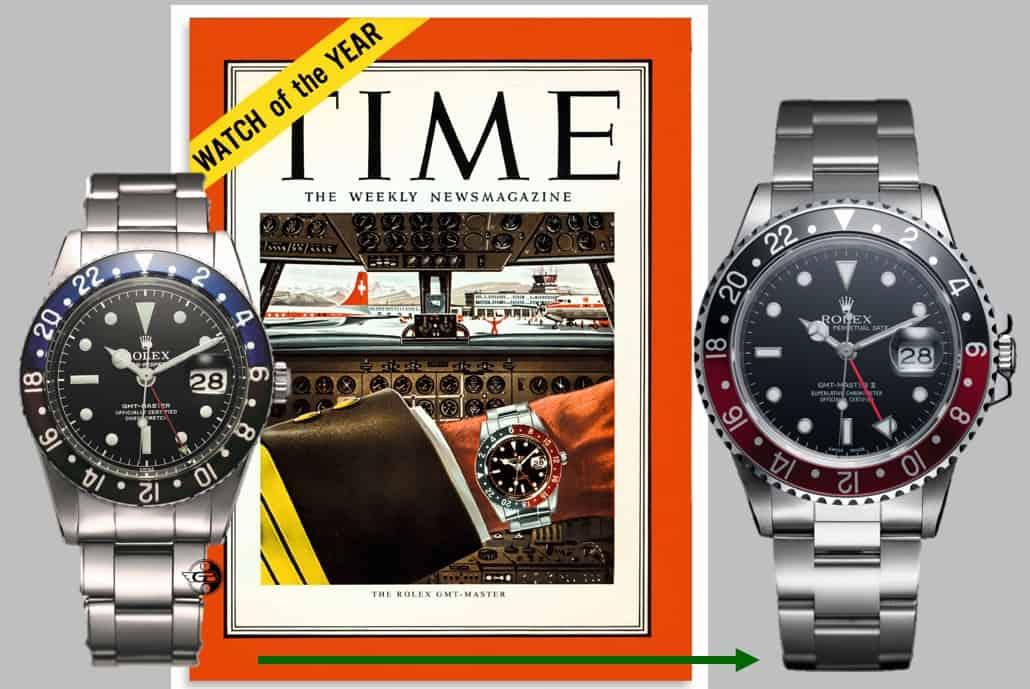 Ein voller Erfolg in den USA: die Rolex GMT-Master Pepsi. Fotos (C) Rolex, Montage (C) Uhrenkosmos