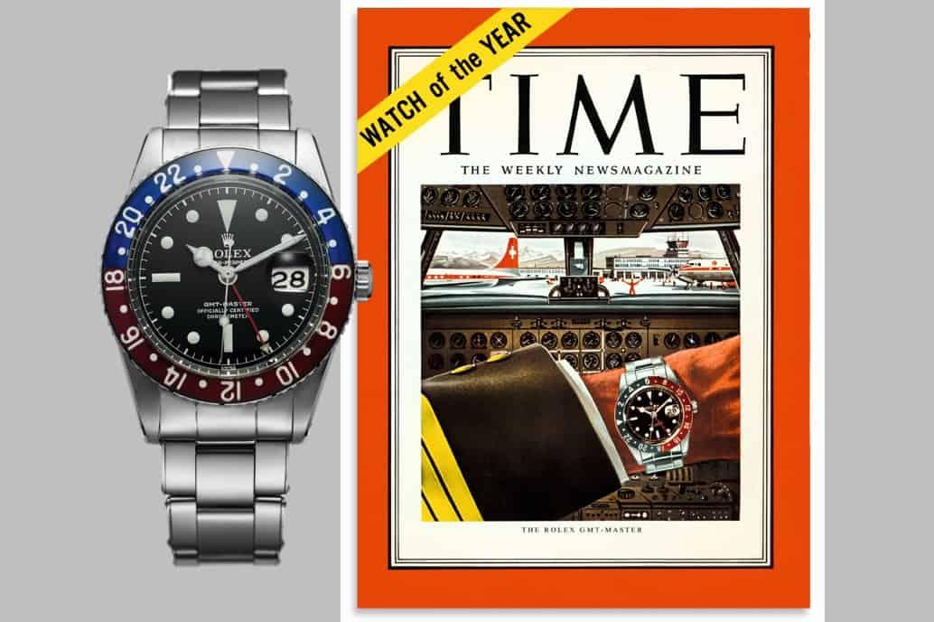 Ein voller Erfolg in den USA: die Rolex GMT-Master mit 24 Stundenring