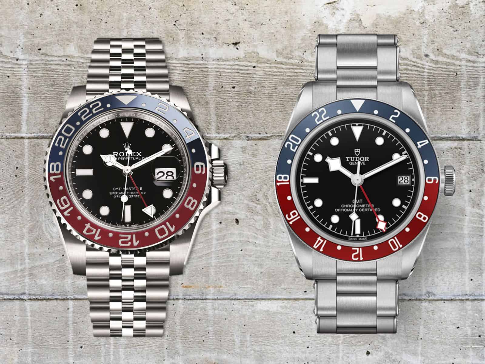 Rolex GMT Master II Pepsi und Tudor Black Bay GMT