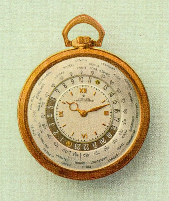 Rolex Taschenuhr mit Weltzeit-Mechanismus von Louis Cottier