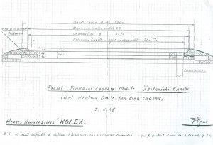 Skizze Frédérique Piguet für ein Rolex Weltzeit-System 1948