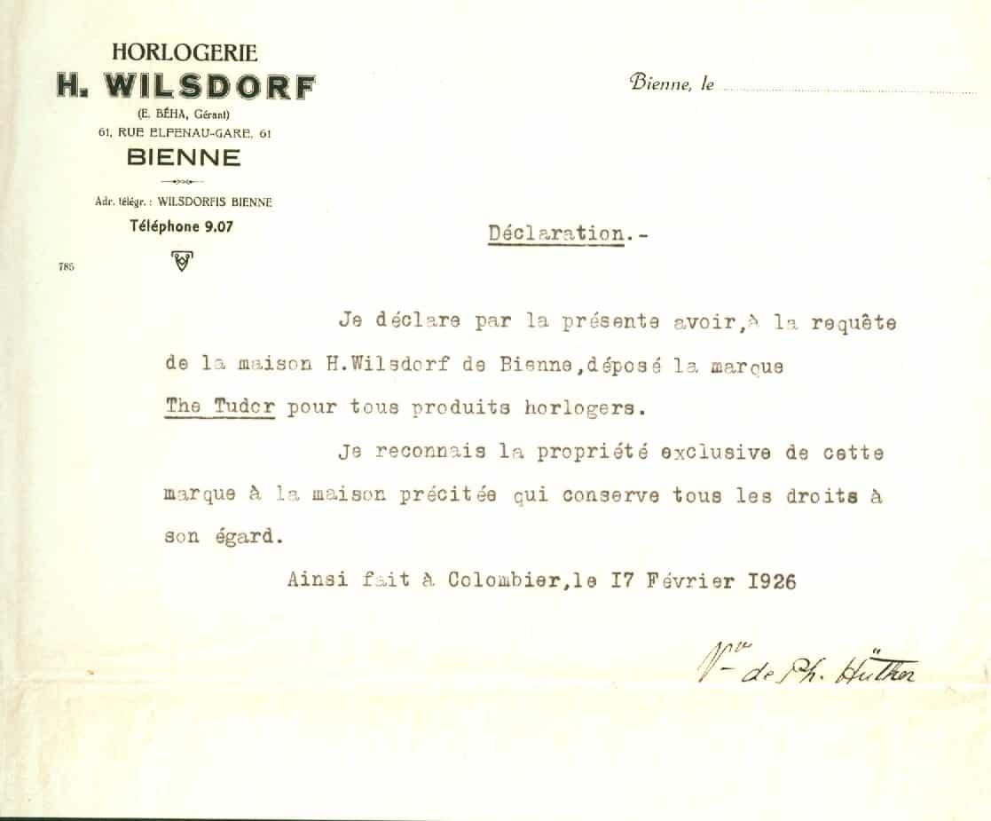 Hans Wilsdorf hat die Marke Tudor schon im Jahr 1926 erworben