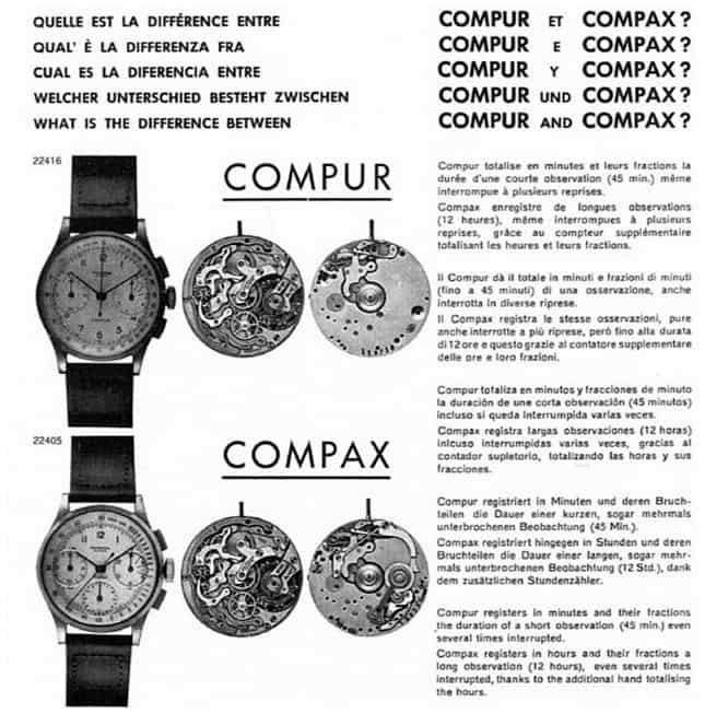 Den kleinen Totalisator-Unterschied zwischen den Modellen Compur und Modell Compax von Universal Genève erklärt