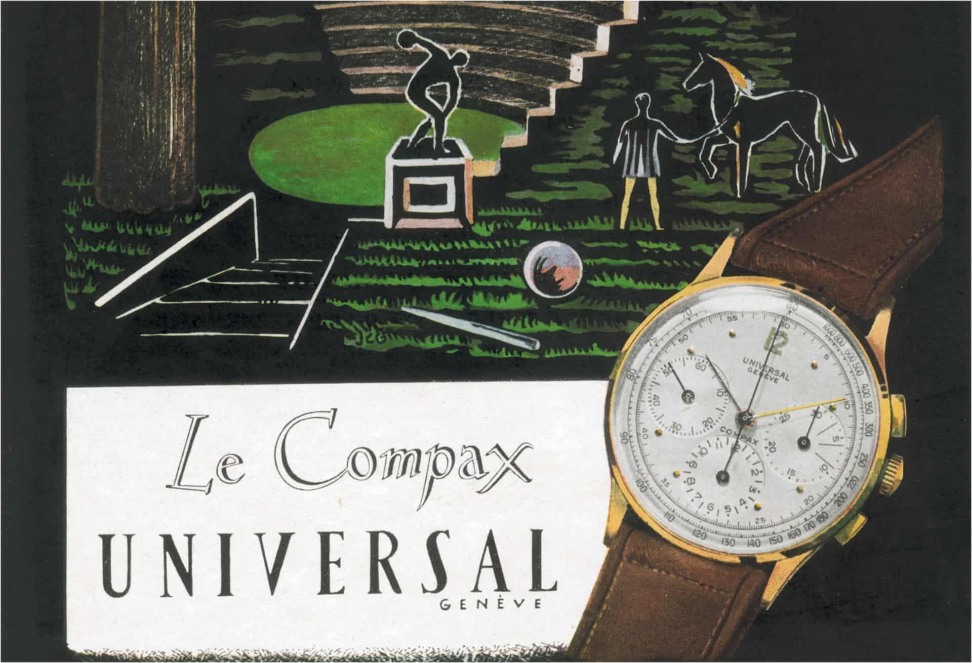 Compax, ein Name für Chronographen von Universal Genève