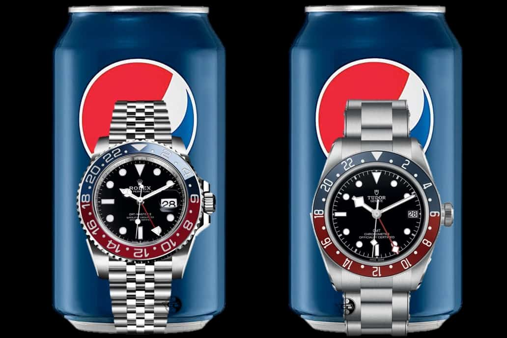 Tudor Pepsi und Rolex Pepsi im Vergleich