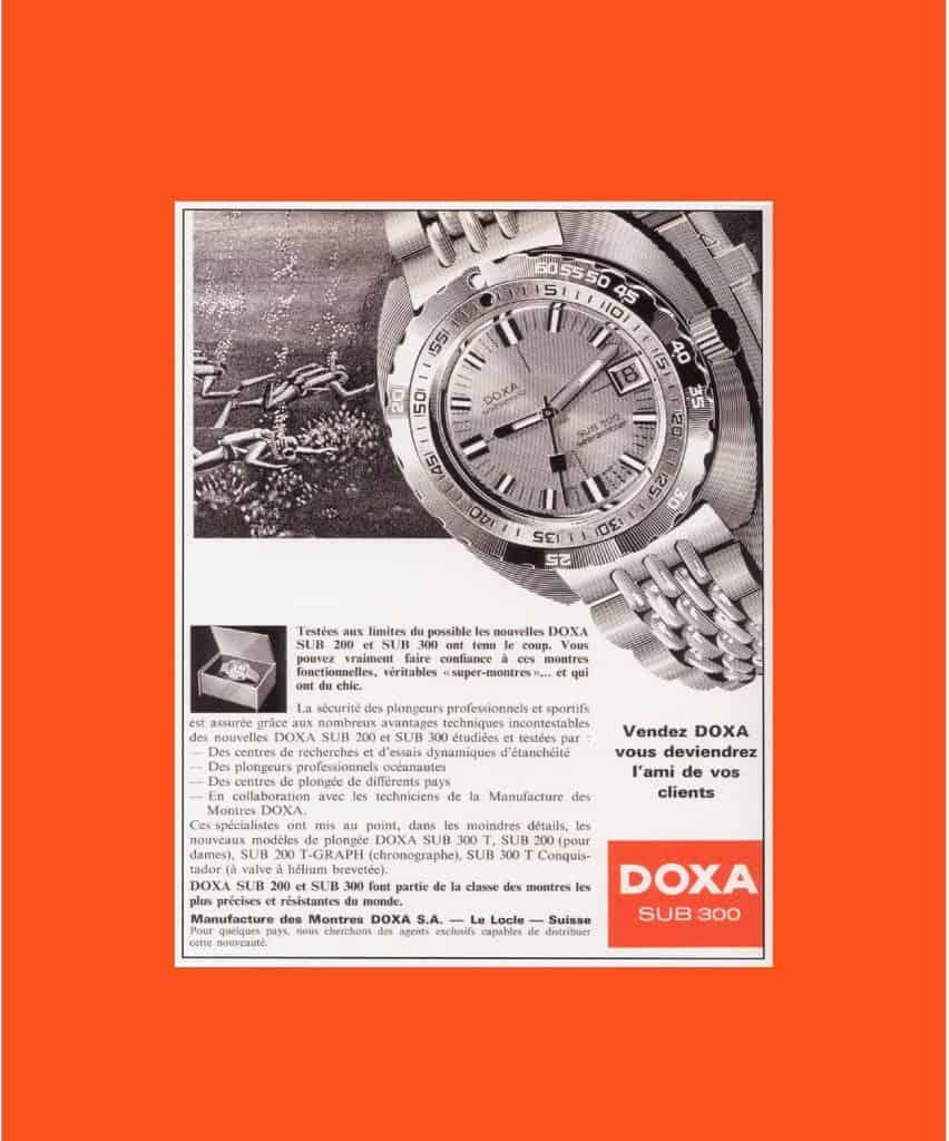 Doxa Sub 300 Anzeigenmotiv