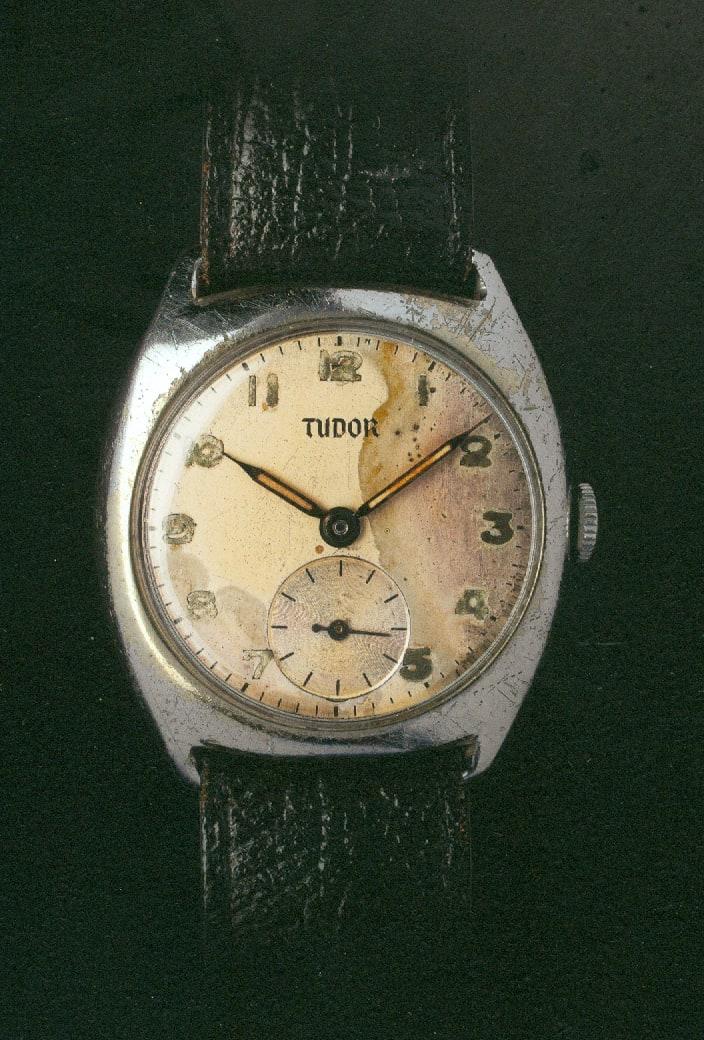 Nicht mehr ganz taufrisch - diese Tudor Armbanduhr aus dem Jahre 1936