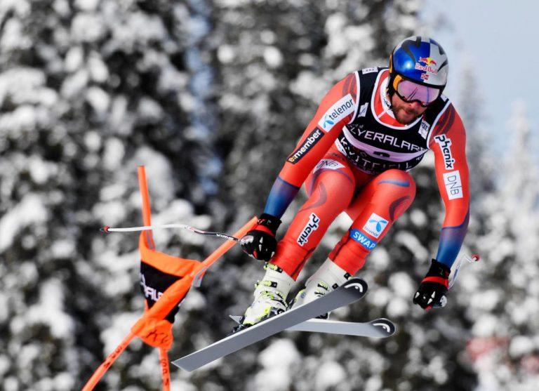 Aksel Lund Svindal ist auch als Red Bull Markenbotschafter in voller Fahrt
