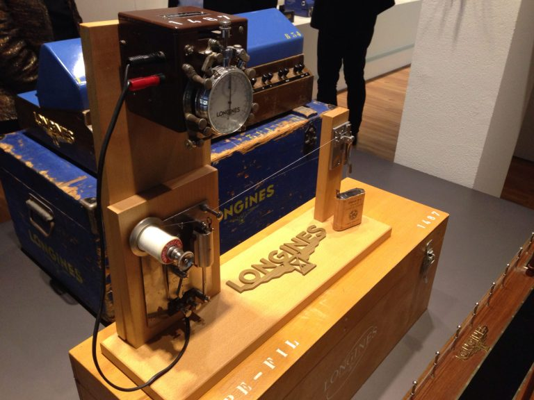 Das Fadenrisszeitmesssystem im Longines Museum.