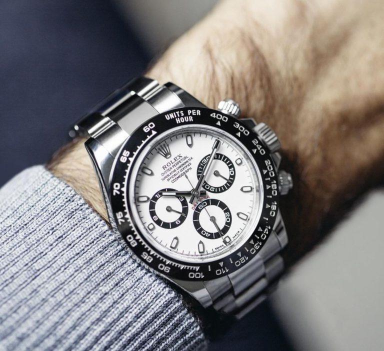Diese Uhr hat Strahlkraft - ob am Arm von Roger Federer oder eines glücklichen Rolex Daytona Besitzer. Entsprechend ist sie begehrt.