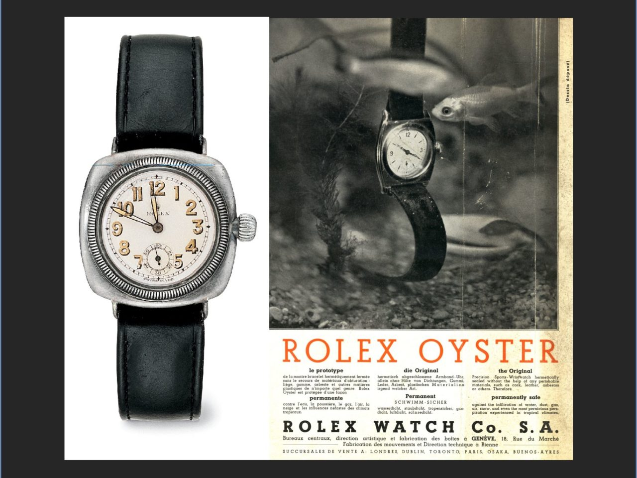 Rolex Oyster – oder auch Hans Wilsdorfs Werk und Perregauxs Beitrag!