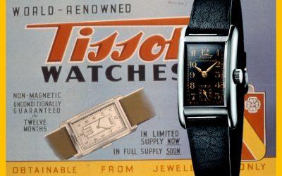 Vintage Tissot und alte UhrenwerbungTissot Antimagnetic: Eine Vintage Uhr mit Ecken und Kanten