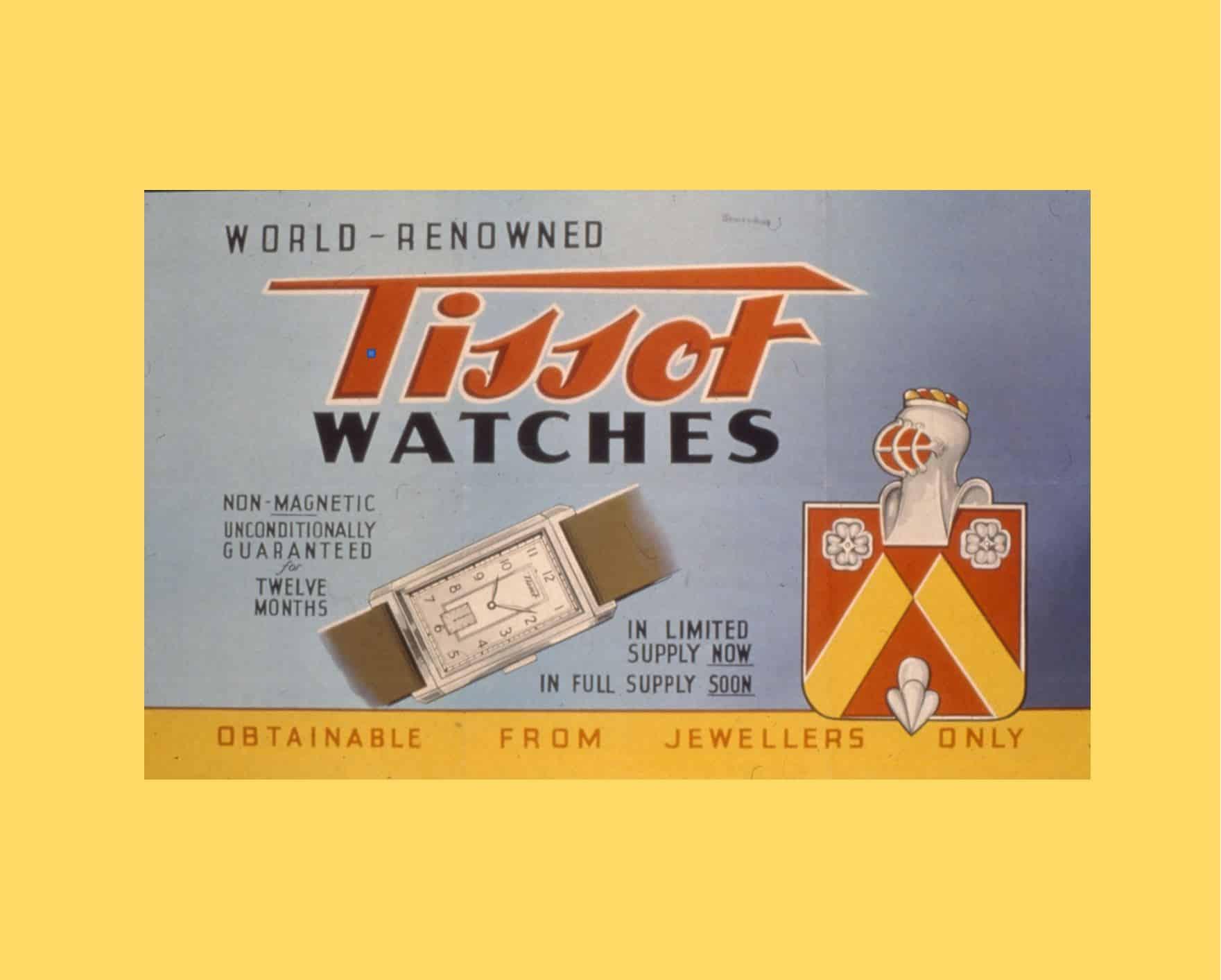 Alte Anzeigenmotive und ihre Geschichte - TissotTissot Banana: Diese Vintage Uhr hat Ecken und Kanten