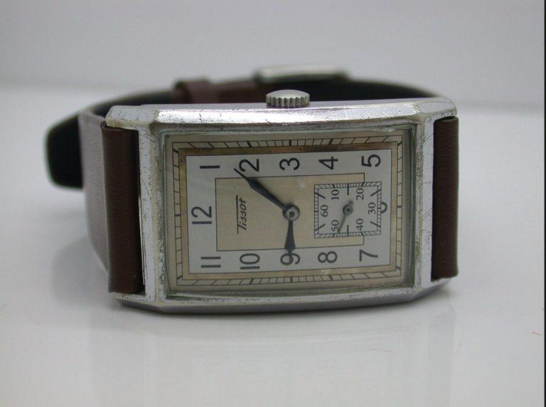 Ab und zu noch zu haben: 30er Jahre Tissot Vintage Modell gesehen bei HubCityTime.com