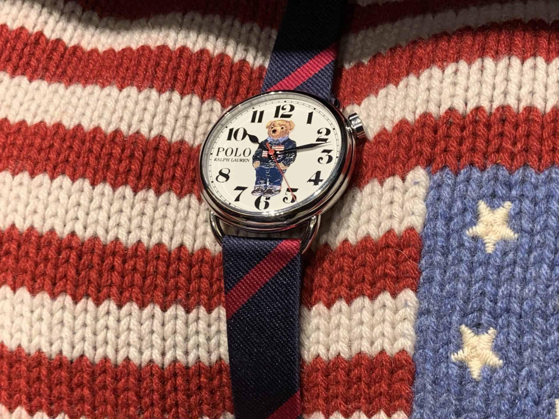 Das Flag Bear Uhrenmodell von Polo Ralph Lauren
