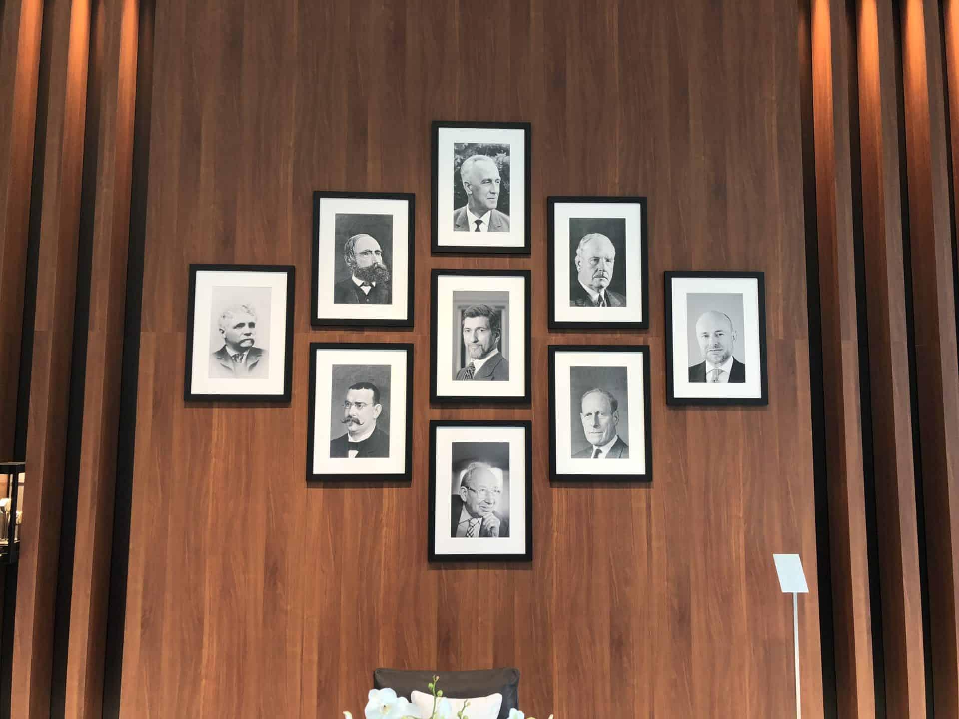 Diese Menschen haben sich um die Geschcihte von IWC verdient gemacht- zu sehen im Foyer
