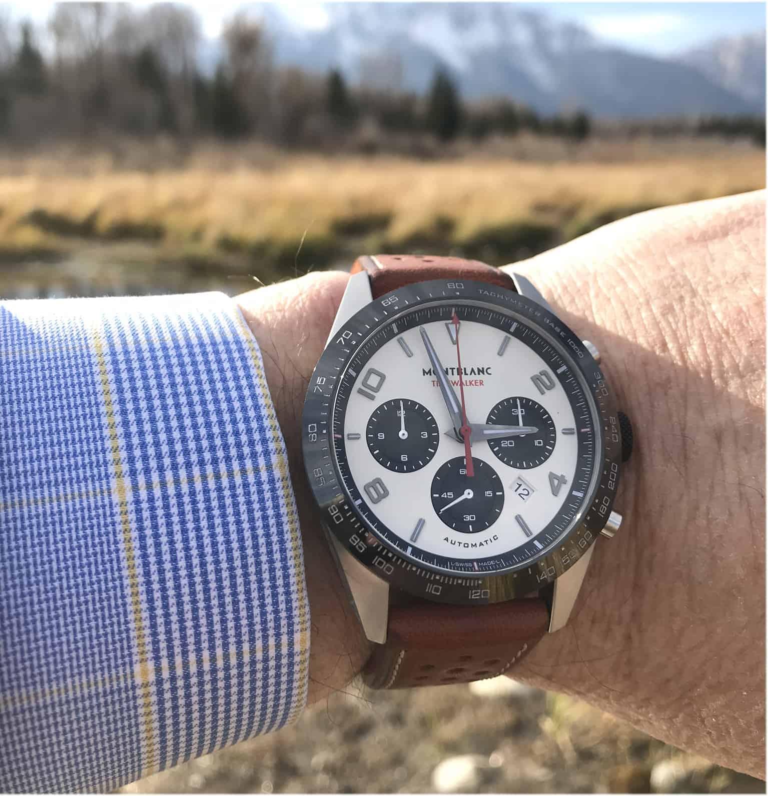 Pandas sind einfach attraktiv. Auch im Uhrdesign. Der Montblanc TimeWalker Manufacture Chronograph