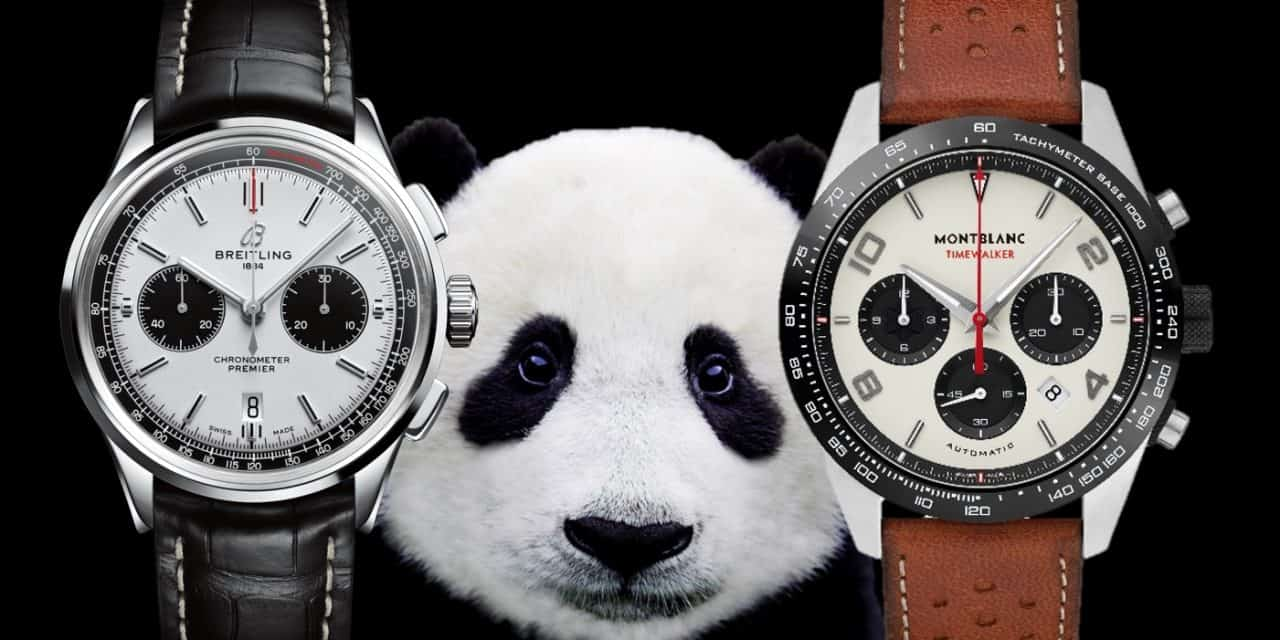 Panda Zifferblatt: Chronographen mit Permanent-Sekunde und Totalisatoren