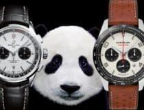 Chronographen Permanent-Sekunde und Totalisatoren im Panda-Look
