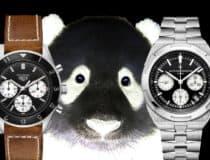Der Panda-Look geht auch Weiß auf Schwarz