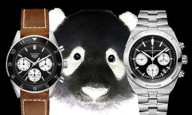 Panda Zifferblatt: der Chronographen Panda-Look geht auch Weiß auf Schwarz