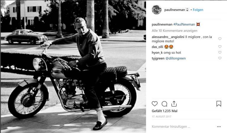 Paul Newman ist auf Instagram ein Ikone. Mit dabei die Rolex Daytona.