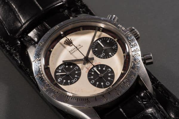 """17,75 Millionen Dollar war dem Käufer dieser Rolex Daytona die Uhr nebst Gravur """"Drive carefully. Me"""" wert."""