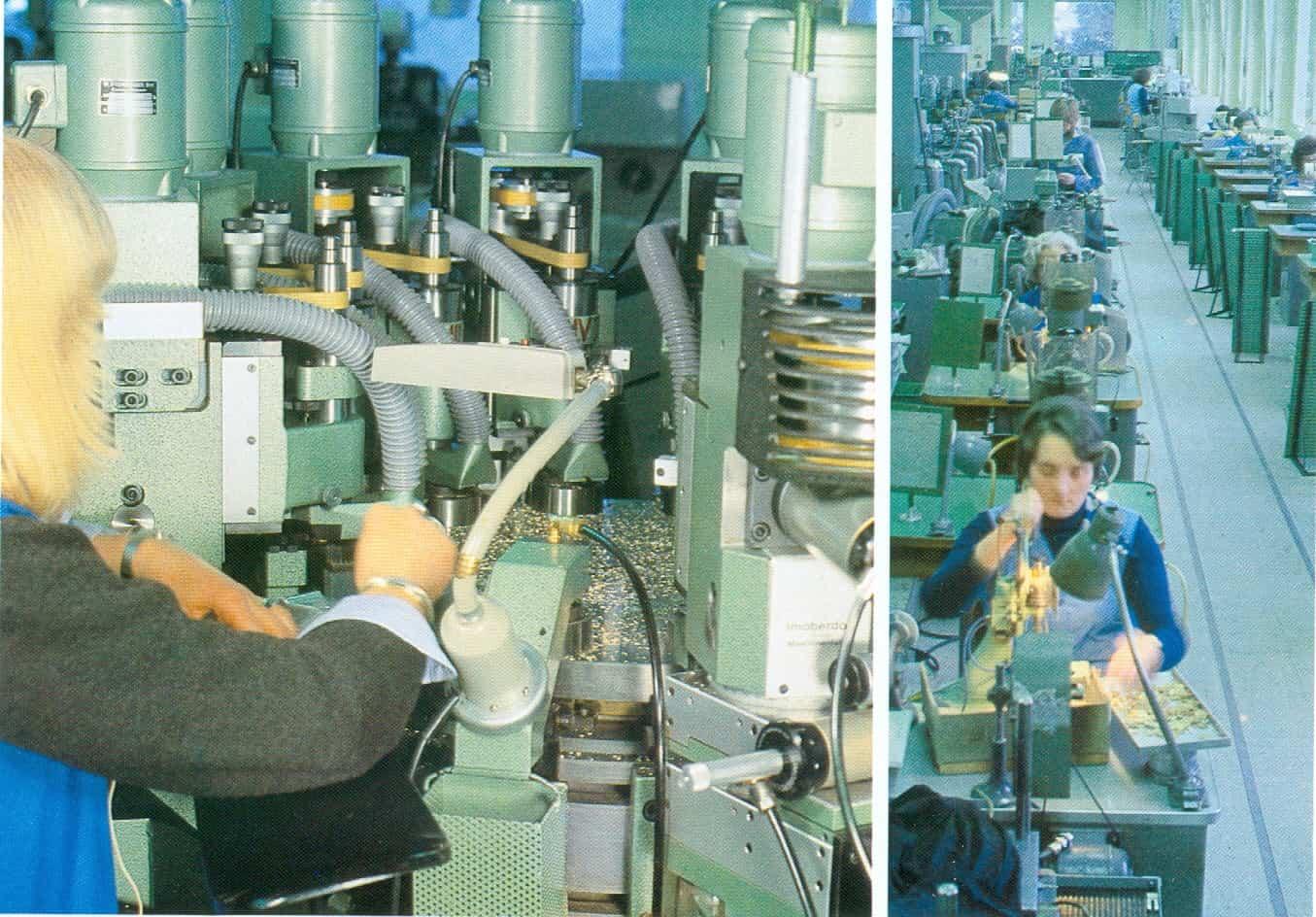 Bohren und Fräsen in der alten Rolex Manufacture des Montres in Biel