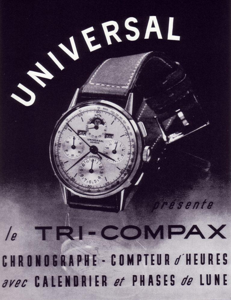 Die Universal Tri-Compax lobte in den 40er Jahren ihre Mondphasen-Anzeige