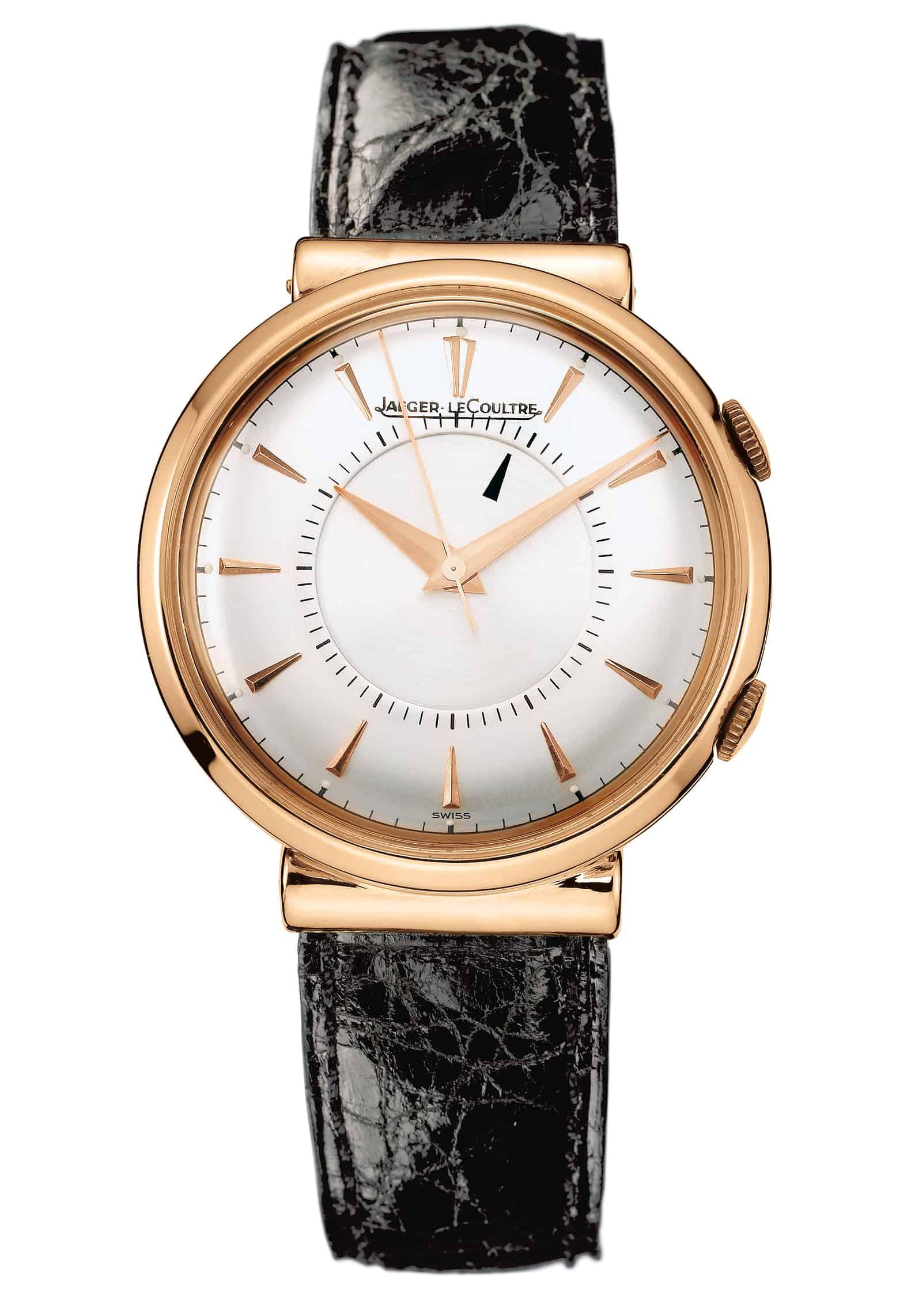Eine extrem wertvolle Golduhr - die Vintage-Uhr Memovox von Jaeger-LeCoultre aus dem Jahr 1950 mit doppelter Krone
