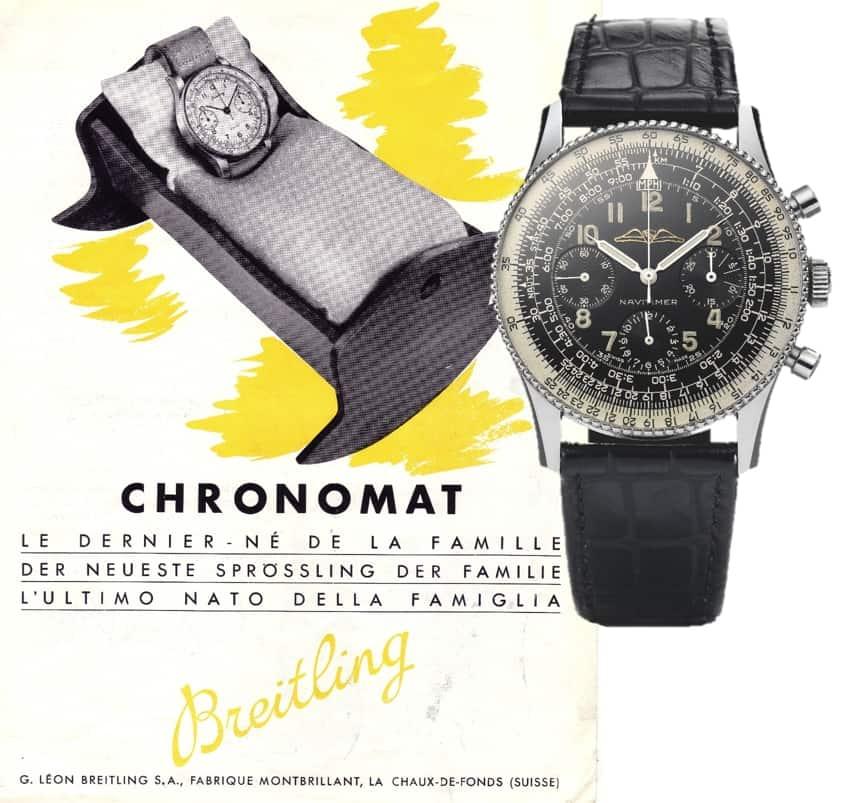 """Die Entwicklung von Breitling vom """"Chronomat"""" zum """"Navitimer"""""""