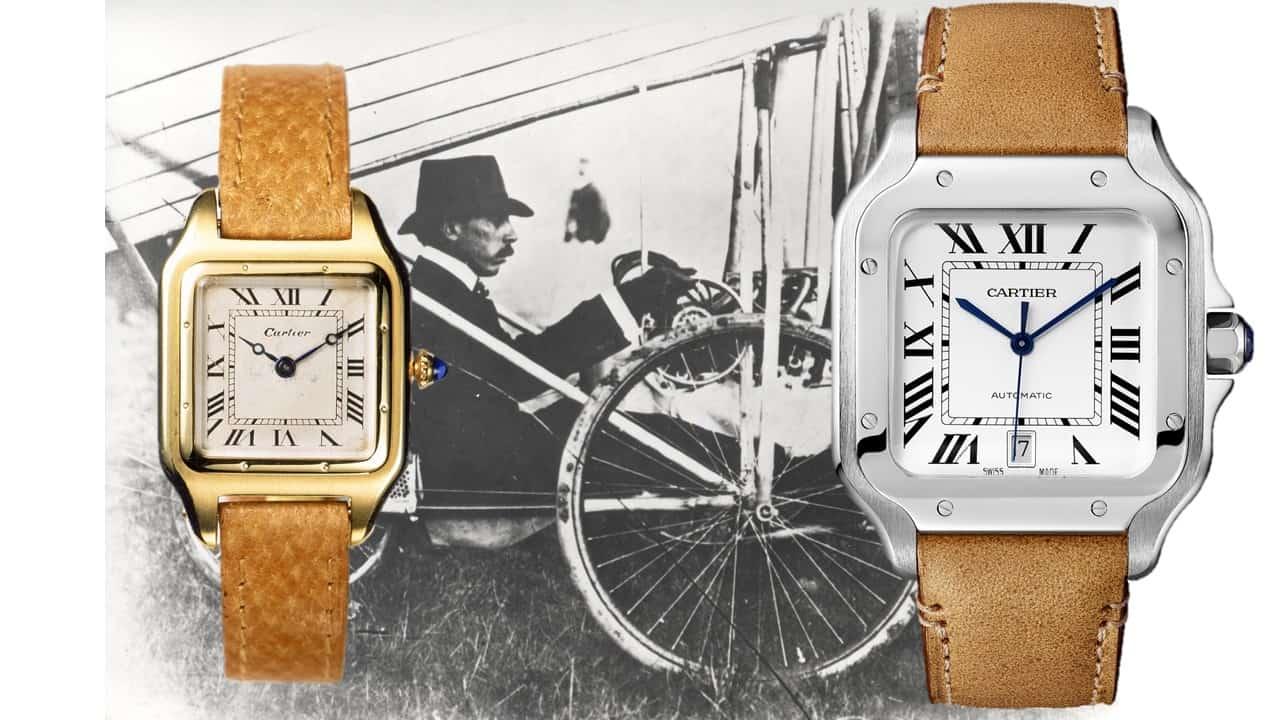 Die Gestalt der Cartier Santos einst und jetzt: 1904 und 2018