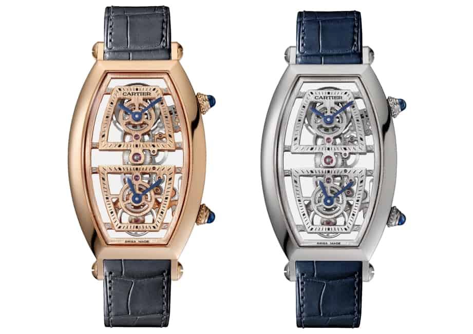 Echter Luxus - die Cartier Privé Tonneau Dual Time 2019 - Rotgold und Platin