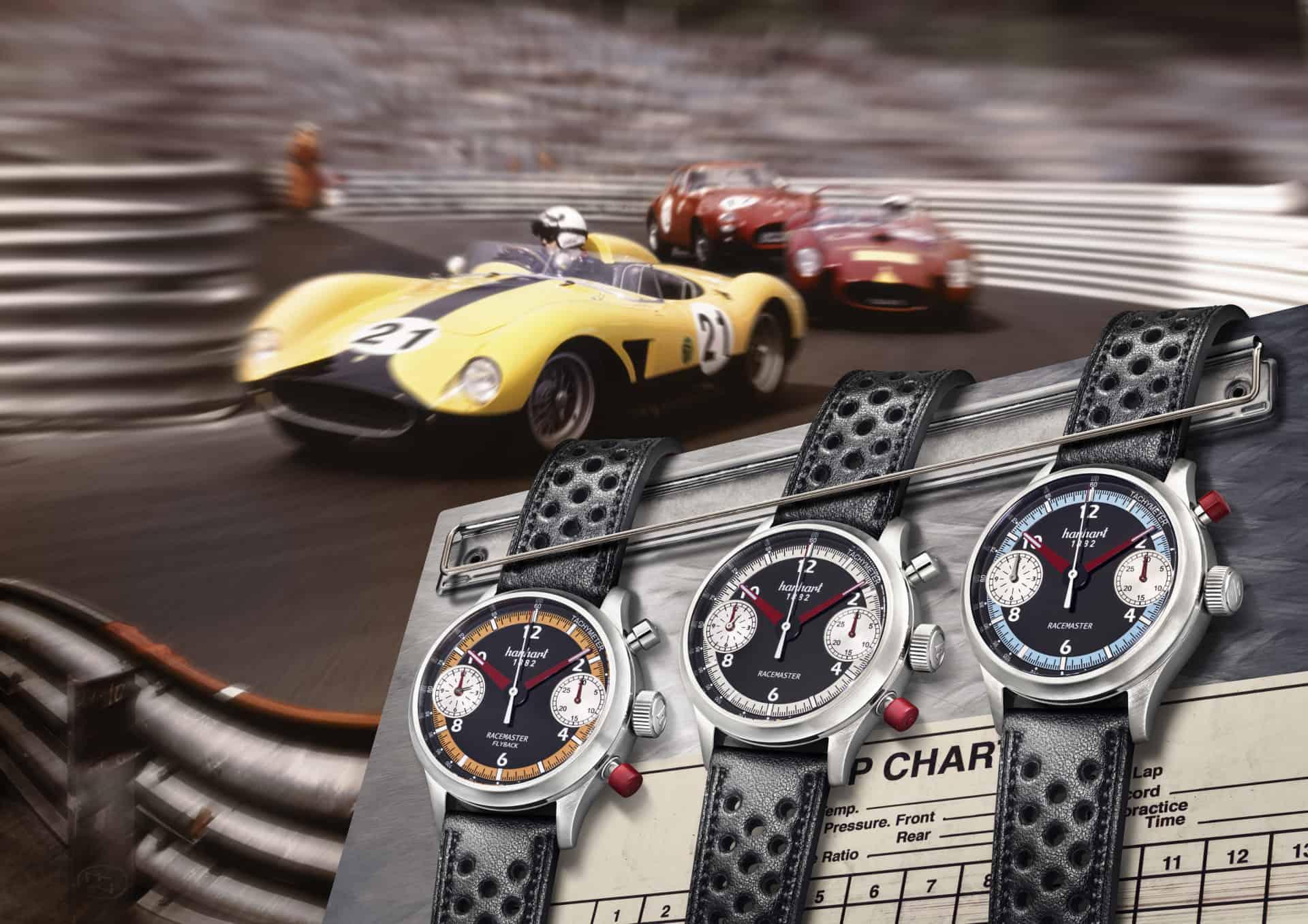 Verschiedene Modelle der Hanhart Pioneer Racemaster
