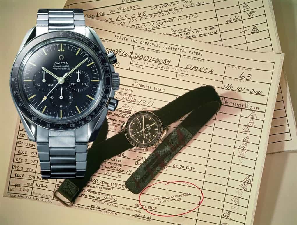 Das Original und das moderne Modell der Omega Moonwatch