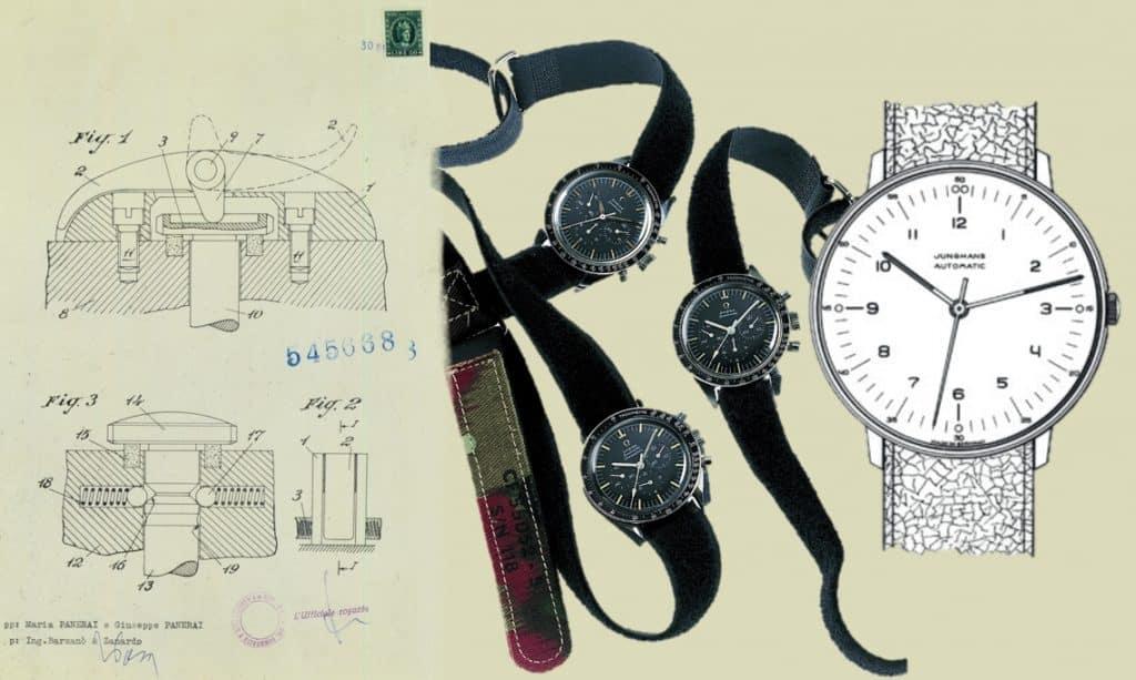 Luminor Panerai Patent, Omega Moonwatch und Junghans Max Bill