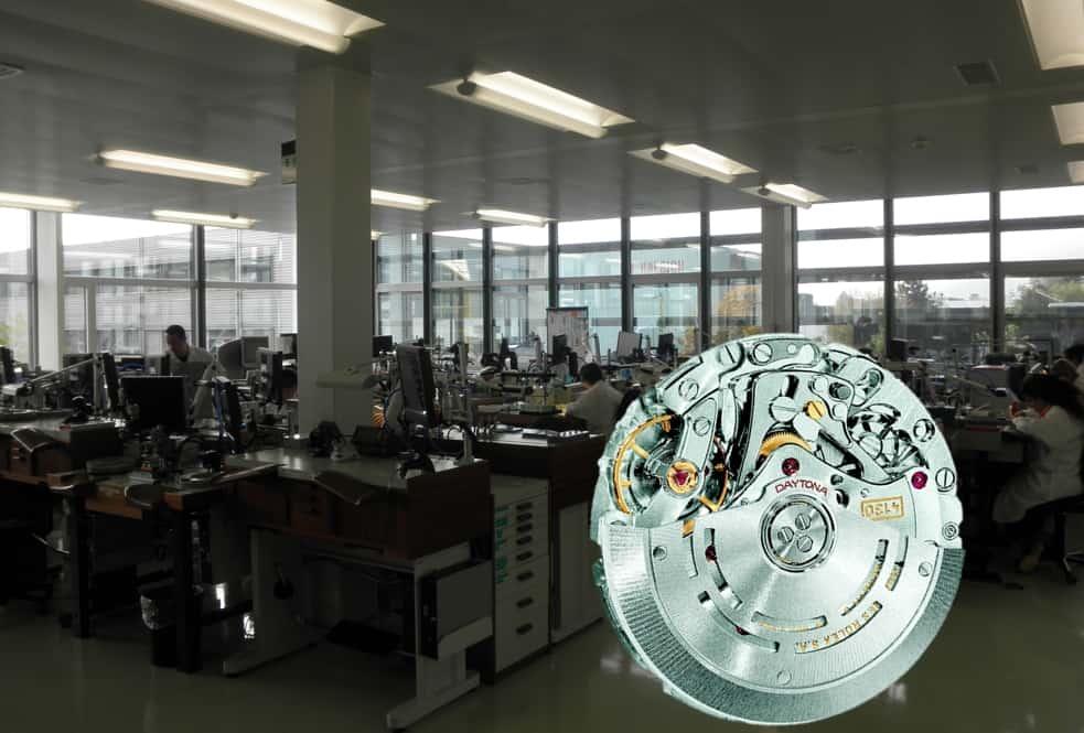 Das Assemblage-Atelier von Rolex im Ort Biel
