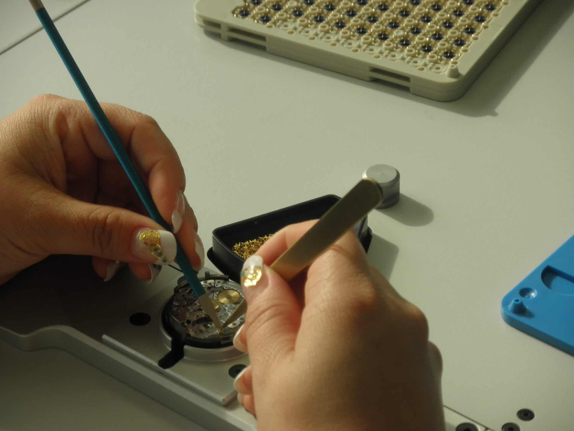 Für Qualität kommt es auf die Sorgfalt des Uhrwerkbaus an