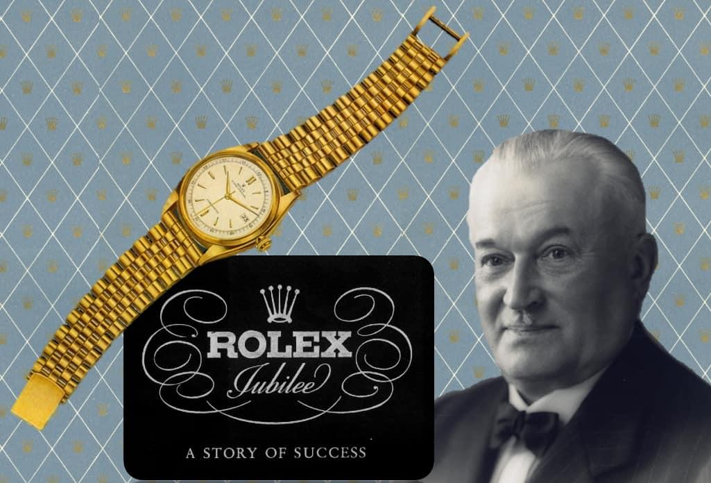 Hans Wilsdorf und seine Rolex Datejust des Jahres 1945