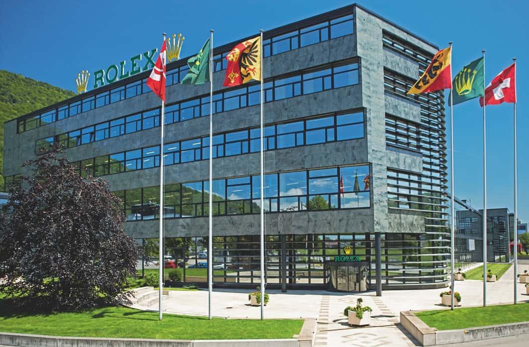 Der Eingang zur Rolex-Fabrik in Biel - Foto Rolex