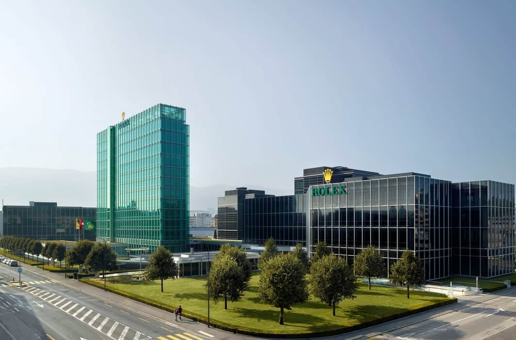 Der Rolex Hauptsitz in Genf ist ebenfalls stattlich - Foto Rolex