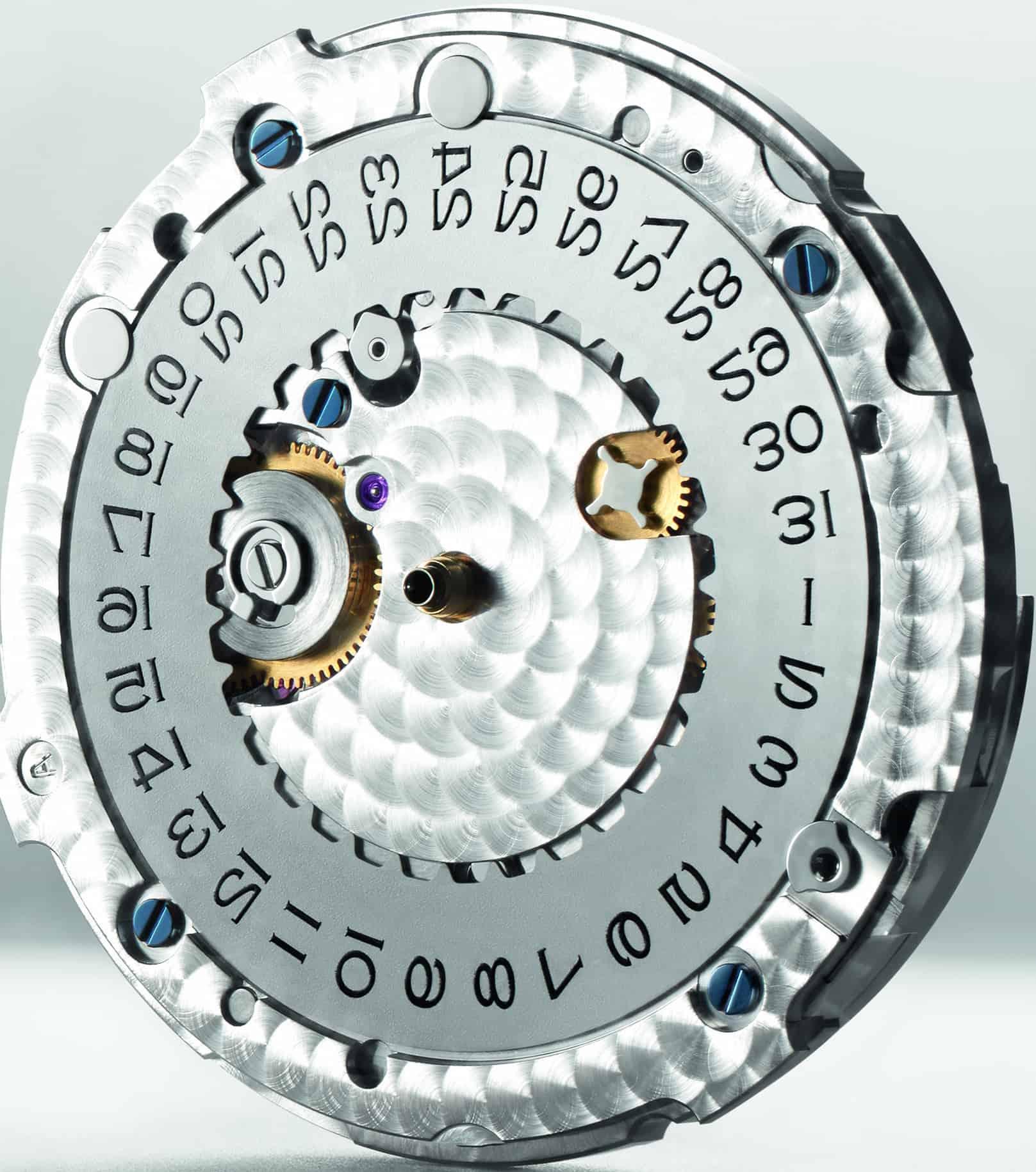 Der Datumsring des Rolex Kalibers 3235 dreht unter dem Zifferblatt